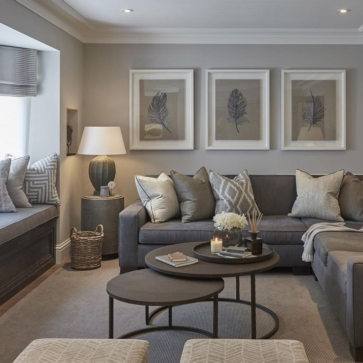 7 tipů pro použití šedé barvy v obýváku