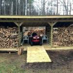 Jak postavit dřevník z palet? Tip na přístřešek na dřevo.