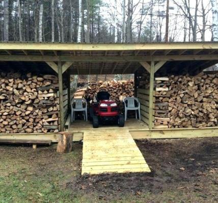 dřevník z patet